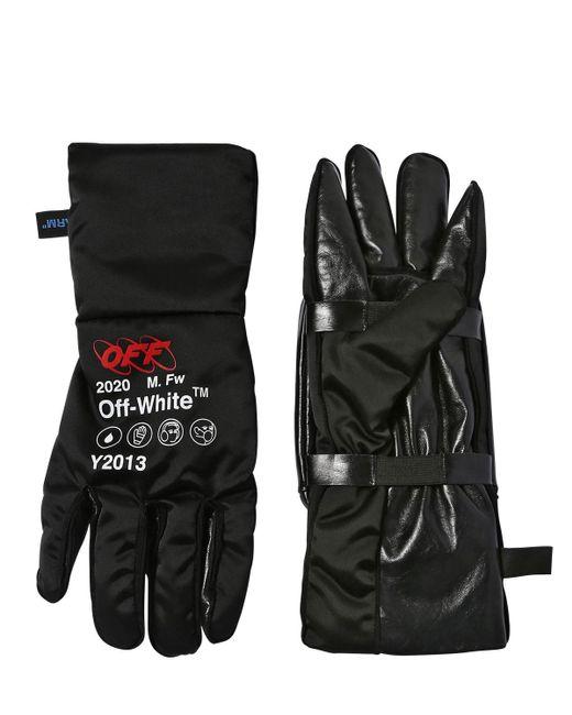 Перчатки Из Кожи И Техноматериала Off-White c/o Virgil Abloh для него, цвет: Black