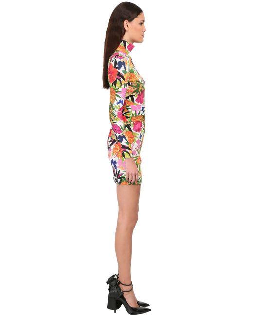 Floral Print High Neck Mini Dress Dundas, цвет: Multicolor