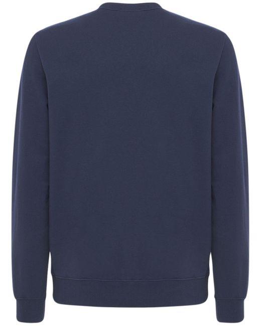 メンズ A.P.C. コットンジャージースウェットシャツ Blue
