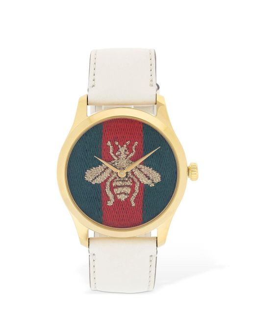 Gucci Bee レザーウォッチ Multicolor