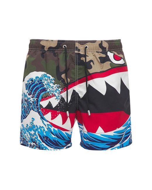 メンズ Mc2 Saint Barth Shark Attack 水着 Multicolor