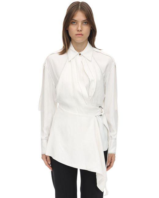 Рубашка Из Вискозы Оверсайз Proenza Schouler, цвет: White