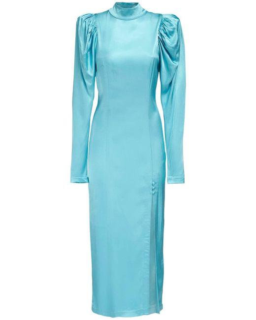 ROTATE BIRGER CHRISTENSEN Theresa サテンドレス Blue