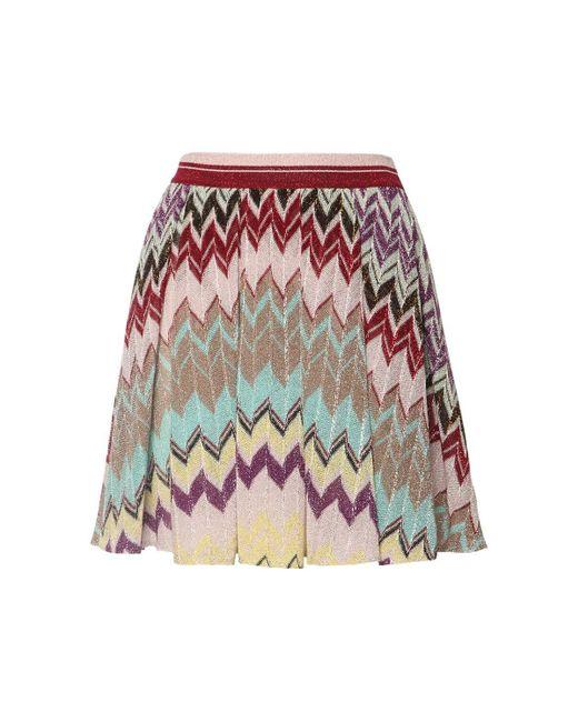 Missoni Zig Zag ビスコースブレンドニットスカート Multicolor