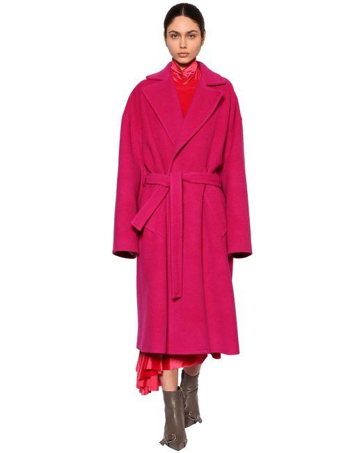Balenciaga ベルテッドラップコート Pink