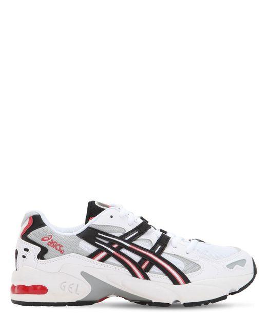 Asics White Kayano 5 Og Leather & Mesh Sneakers