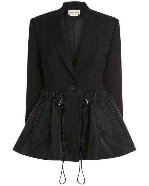 Alexander McQueen ウールテーラリングジャケット Black