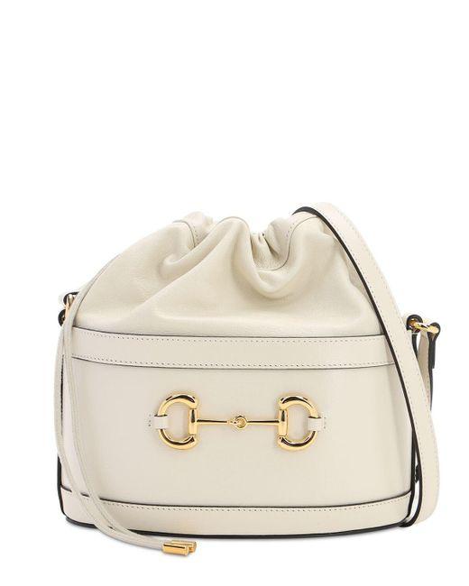 Gucci 1955 Horsebit Azalea レザーバッグ White
