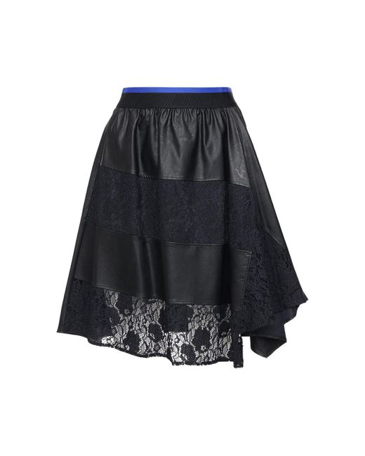 Koche エコレザー&レーススカート Black