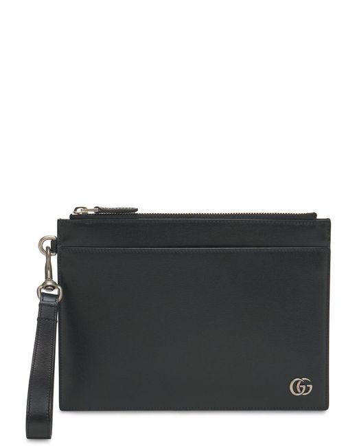 """Кожаный Клатч """"gg Marmont"""" Gucci для него, цвет: Black"""