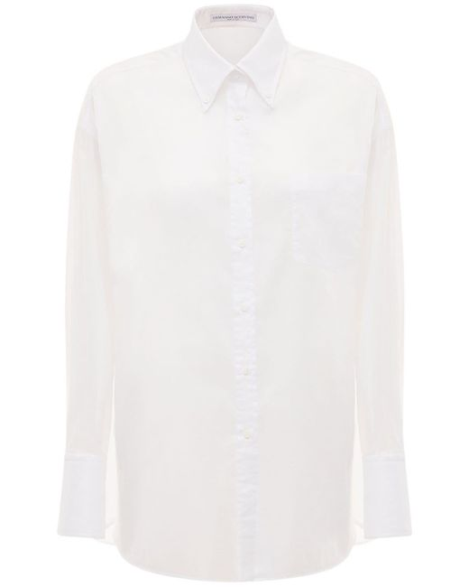 Ermanno Scervino オーバーサイズモスリンコットンシャツ White
