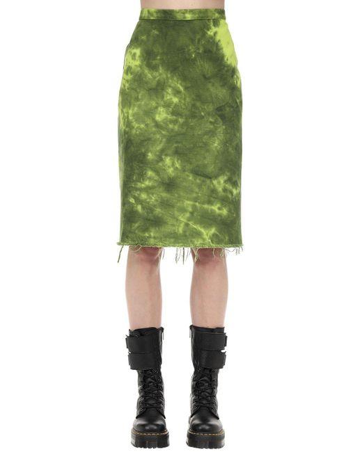 Юбка Из Хлопкового Денима Marques'Almeida, цвет: Green