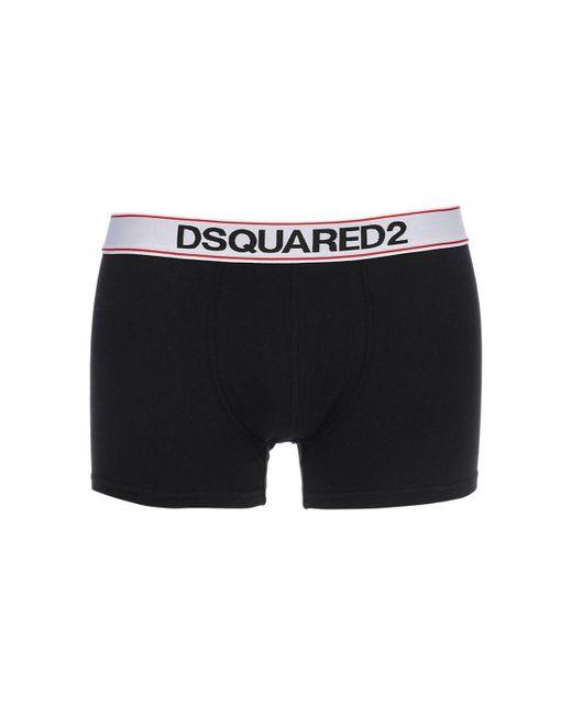 メンズ DSquared² コットンジャージーボクサー Black