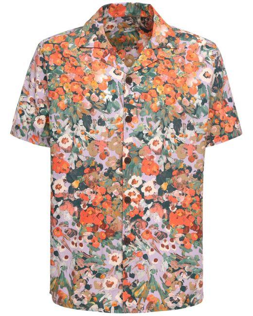 Рубашка Из Хлопка Поплин Wax London для него, цвет: Multicolor