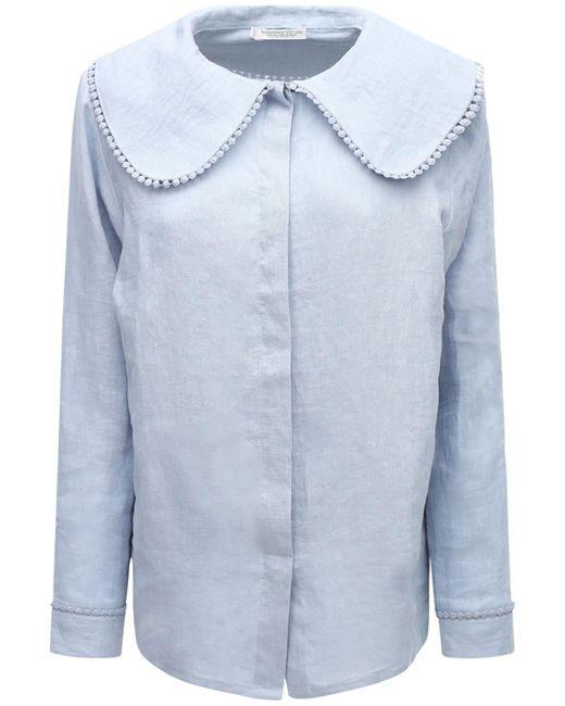 Рубашка Из Органического Льна Underprotection, цвет: Blue