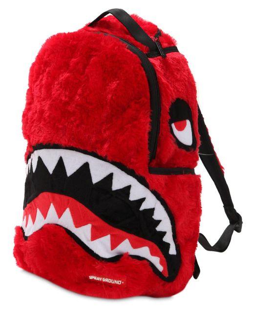 """Sprayground Rucksack """"fur Monster"""" in Red für Herren"""