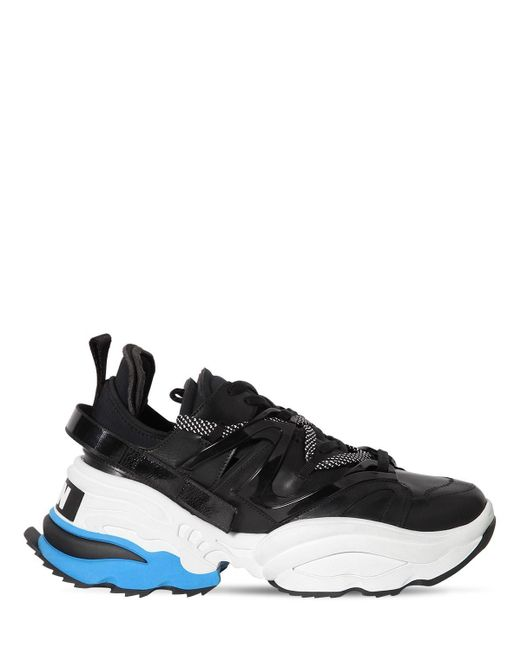 Кроссовки Из Кожи И Техноматериала 80мм DSquared² для него, цвет: Black