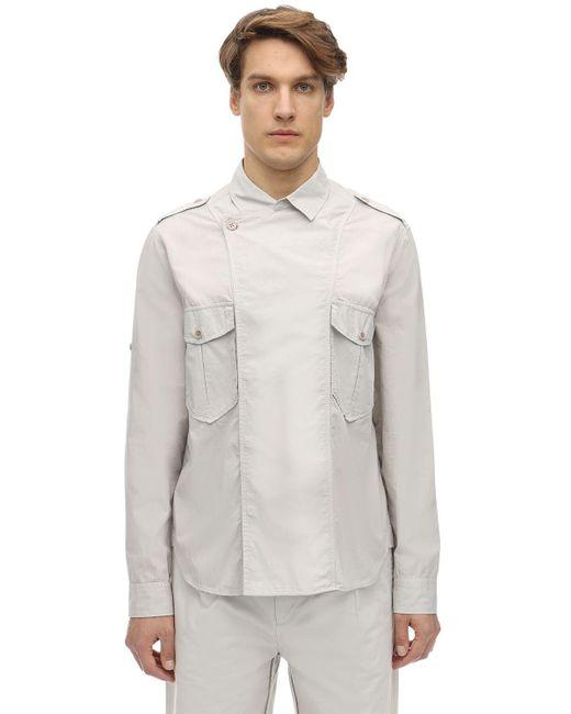 メンズ Isabel Marant コットンポプリンシャツ Gray