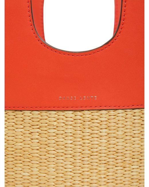 Сумка Из Кожи И Рафии Danse Lente, цвет: Red