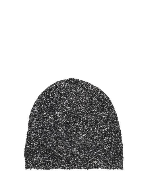 Шапка С Пайетками Saint Laurent, цвет: Metallic
