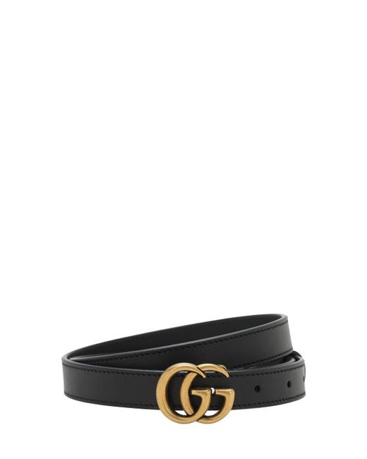 """Cinturón """"gg Marmont"""" De Piel 2cm Gucci de hombre de color Black"""