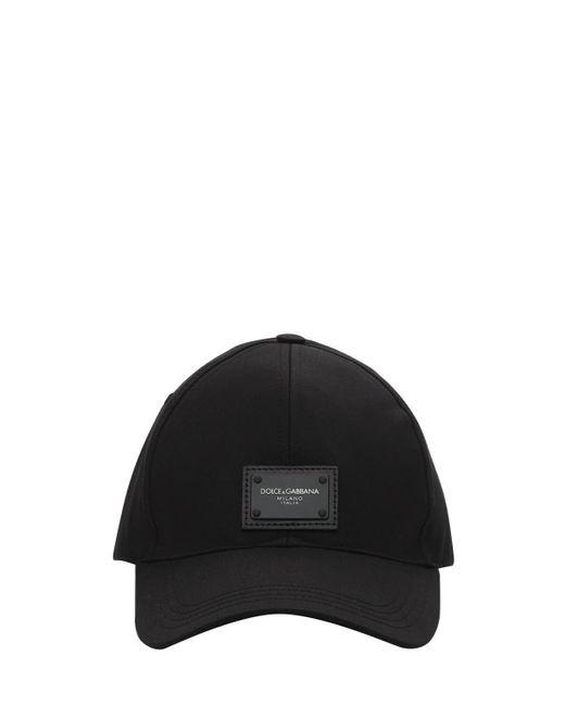 Бейсболка Из Хлопка C Логотипом Dolce & Gabbana для него, цвет: Black
