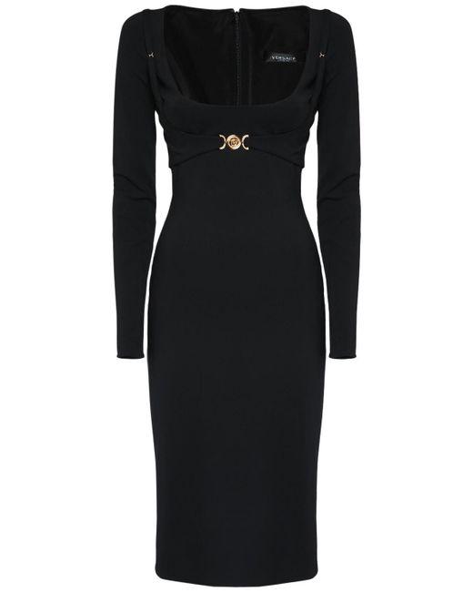 Versace ストレッチビスコースジャージードレス Black