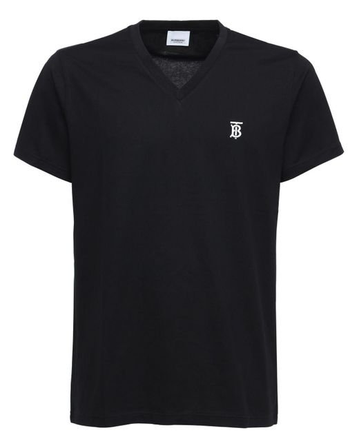 メンズ Burberry Tb コットンtシャツ Black