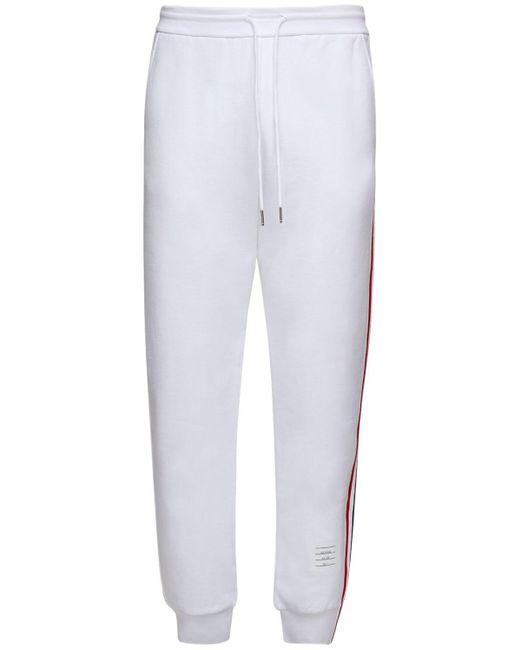 メンズ Thom Browne コットンスウェットパンツ White