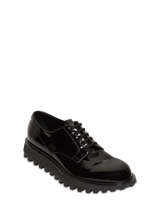 """Кожаные Ботинки """"naxos"""" 25мм Dolce & Gabbana для него, цвет: Black"""