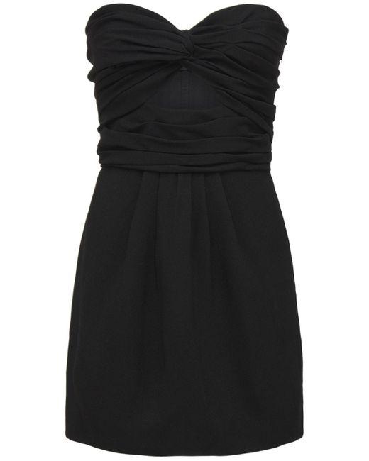 Платье С Вырезом Saint Laurent, цвет: Black