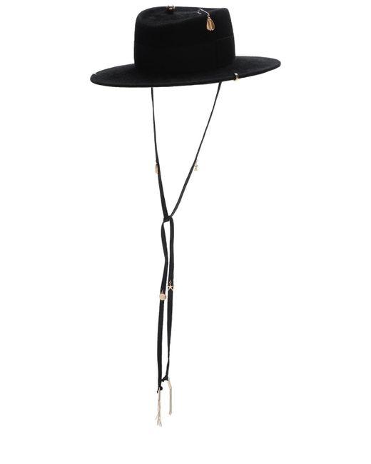 Фетровая Шляпа С Пирсингом Ruslan Baginskiy, цвет: Black