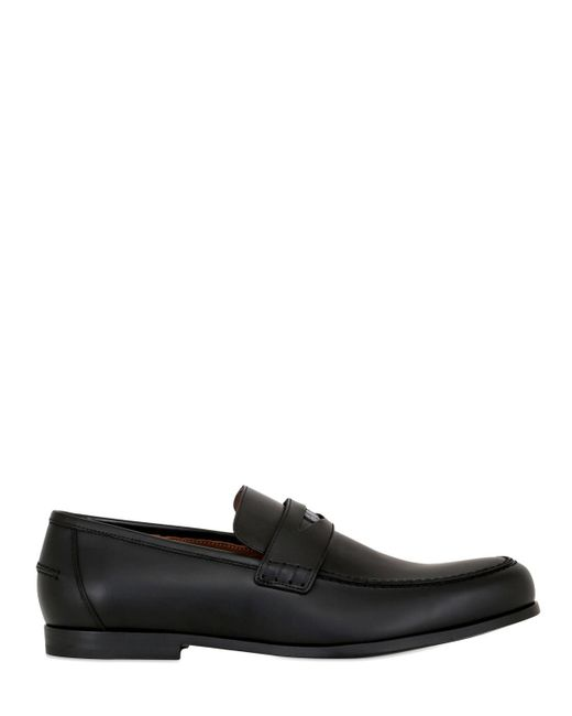 Jimmy Choo | Black Leather Penny Loafers for Men | Lyst