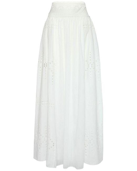 Ermanno Scervino コットンアイレットスカート White