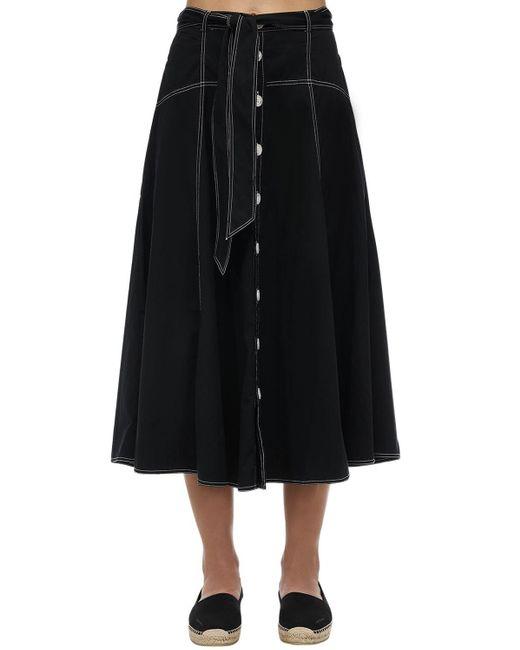 Юбка Из Хлопка Polo Ralph Lauren, цвет: Black