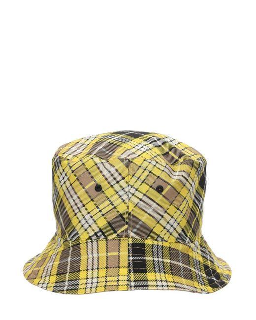 メンズ Burberry リバーシブルウールブレンドバケットハット Multicolor