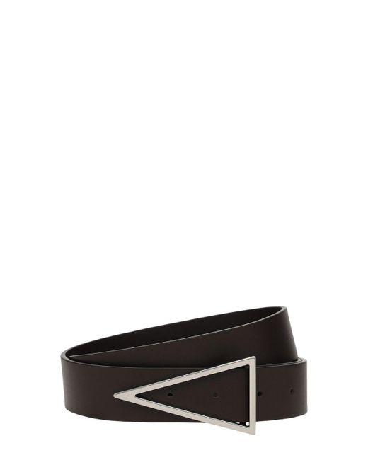 Кожаный Ремень С Пряжкой 3cm Bottega Veneta для него, цвет: Black
