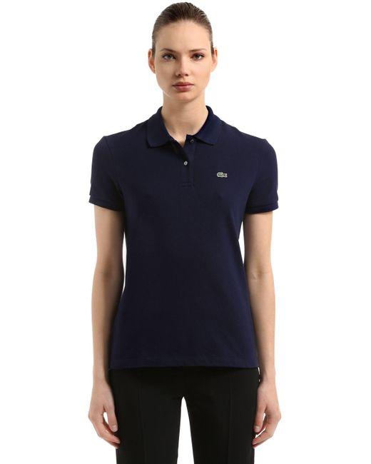 Lacoste - White Cotton Piqué Polo Shirt - Lyst