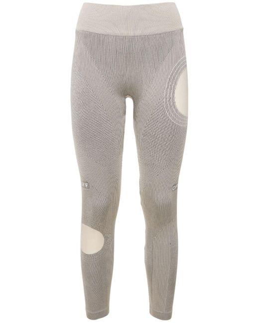 Бесшовные Леггинсы Из Джерси Meteor Off-White c/o Virgil Abloh, цвет: Gray