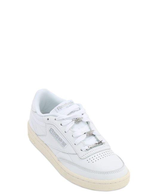 Reebok Club C 85 レザースニーカー White