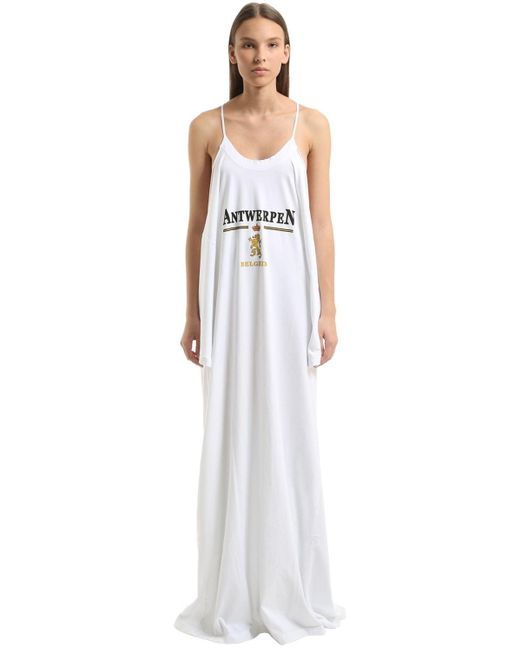 Vetements Antwerpen コットンジャージードレス White