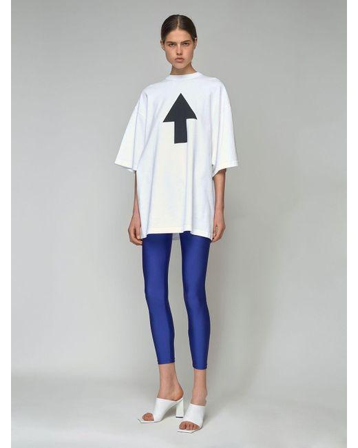 Balenciaga Arrows オーバーサイズジャージーtシャツ White