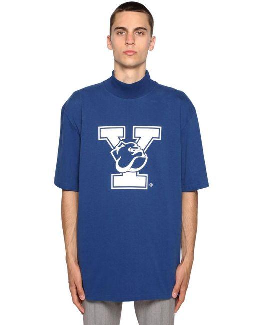 メンズ CALVIN KLEIN 205W39NYC University ハイカラーtシャツ Blue
