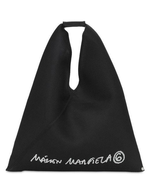 MM6 by Maison Martin Margiela Japanese メッシュロゴトートバッグ Black