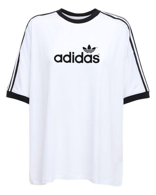 Adidas Originals 70s 3 Stripes ジャージーtシャツ White