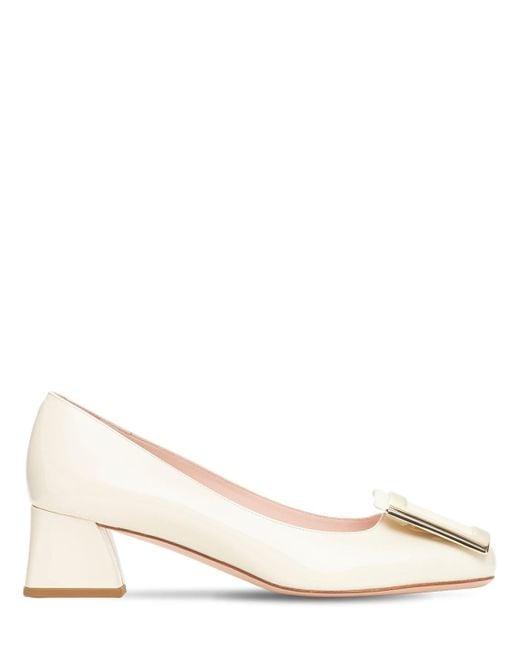 """Туфли Из Лаковой Кожи """"trés Vivier"""" 45мм Roger Vivier, цвет: White"""