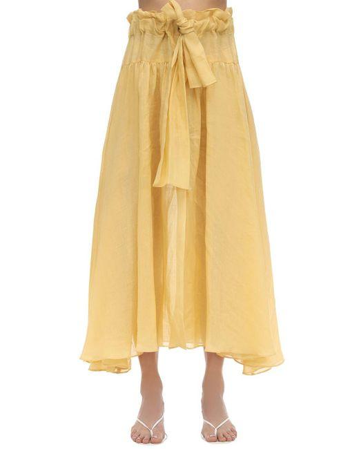 Maryam Nassir Zadeh Carlita ガーゼスカート Yellow
