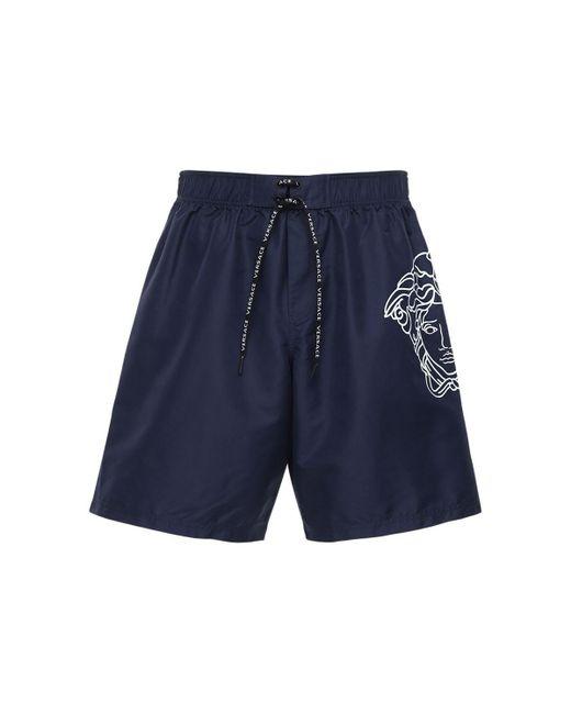 Плавательные Шорты С Принтом Versace для него, цвет: Blue