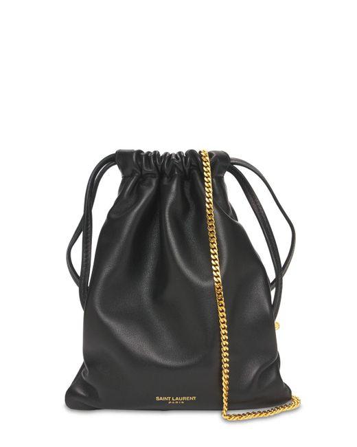 Клатч Paris Из Кожи Saint Laurent, цвет: Black