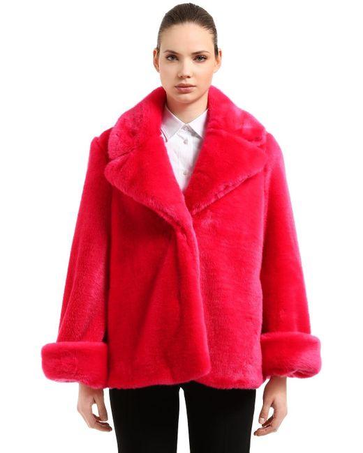 Куртка Из Искусственного Меха Vivetta, цвет: Red